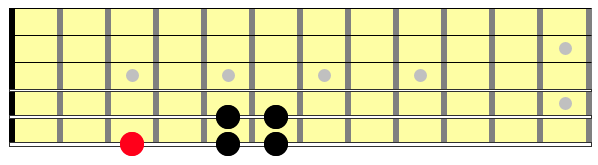 A single two string cell for the Hirajoshi scale
