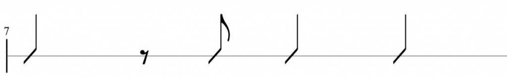 rhythmic variation idea 2